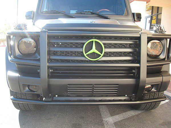 Front view of Bubba Watson's G-Class.