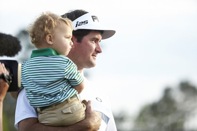 8: He knows there's more to life than golfBubba could hardly get through a press conference at the 2014 Masters without mentioning his two-year-old adopted son, Caleb. Watson says he is a changed man since he became a father just before winning his first green jacket in 2012. He leaves his work at the course and comes home to play wiffle ball in the backyard with his son no matter if he shot a 67 or 76.