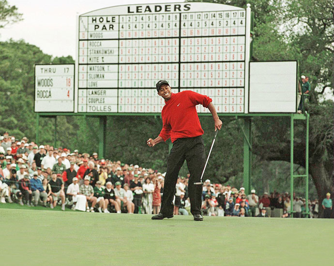 6: There is no such thing as 'Bubba-proofing'After a young Tiger Woods dominated Augusta National in 1997, the powers that be decided the answer was to lengthen the course. It worked, sort of, as Tiger won three more Masters, but not by such great margins. This year's Masters showed you cannot 'Bubba-proof' Augusta National. On the par-5 13th Bubba hammered a 366-yard drive over the trees. He hit sand wedge to the green. What?!?