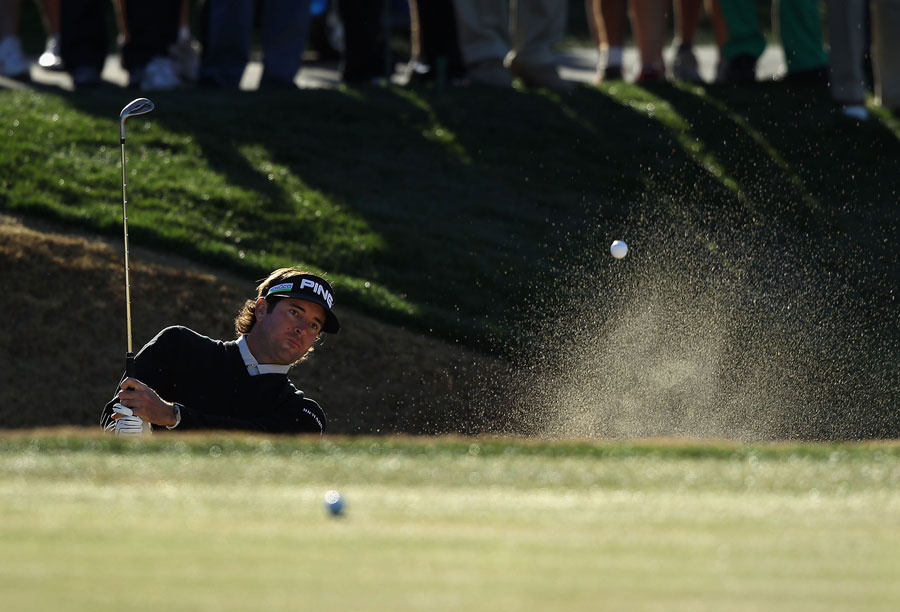 Bubba Watson made an eagle, three birdies, two bogeys and a double bogey for a 70.