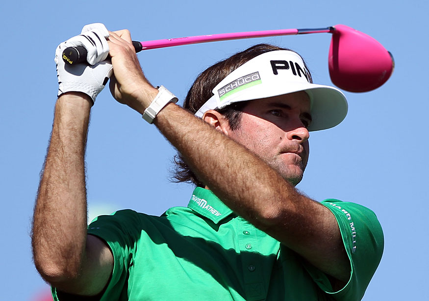 Bubba Watson moved into contention with a four-under 67.