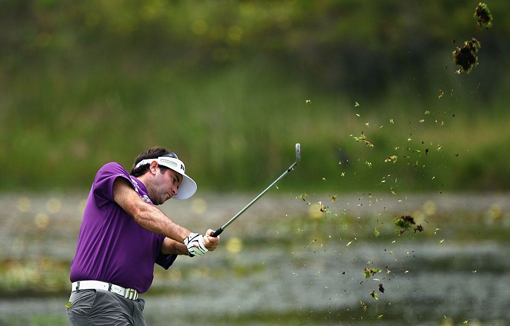 Bubba Watson tied for 12th after an even-par 72.