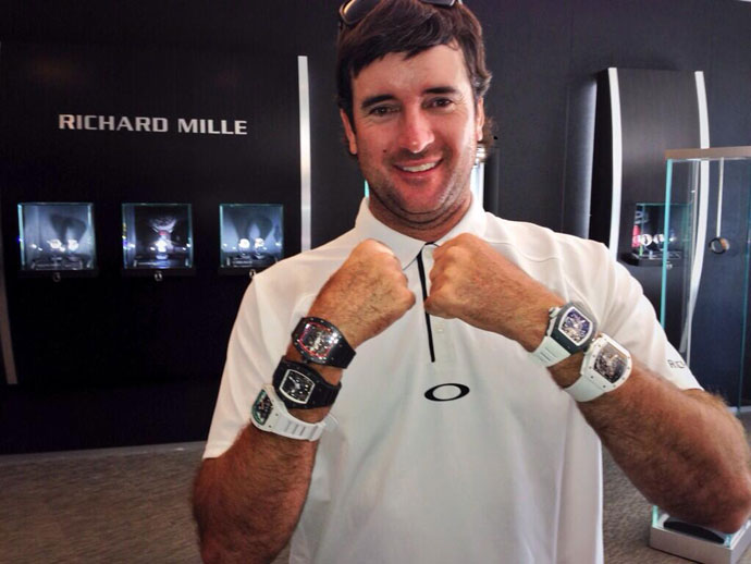 @bubbawatson: Tried on all the watches with my name on them at @Richard_Mille today! #FiveWatches