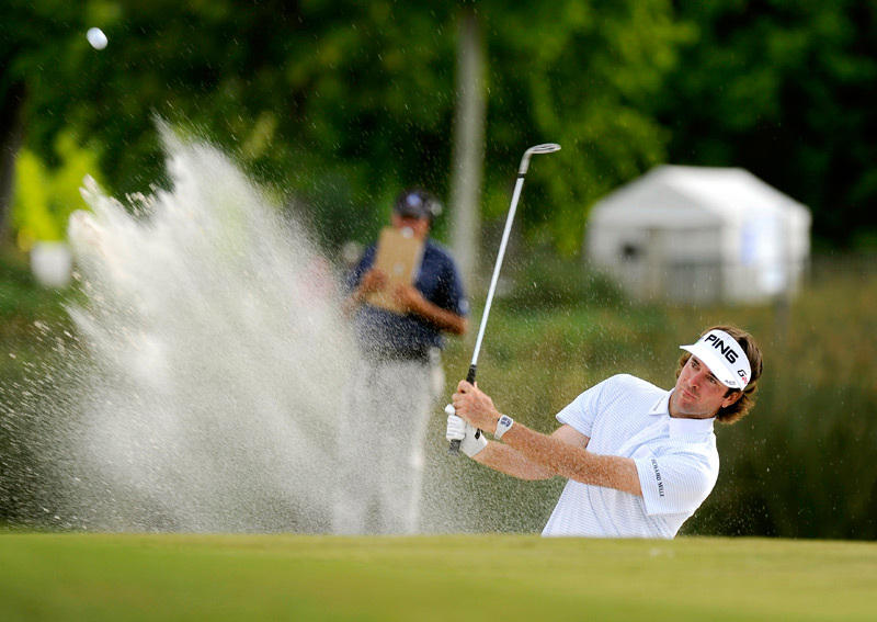 Defending champion Bubba Watson birdied No. 17 to make the cut.
