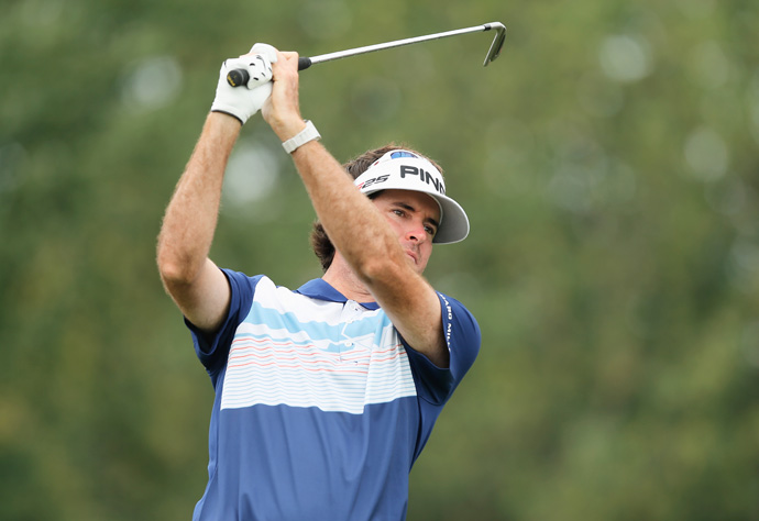Bubba Watson is five shots back after a three-over 75.