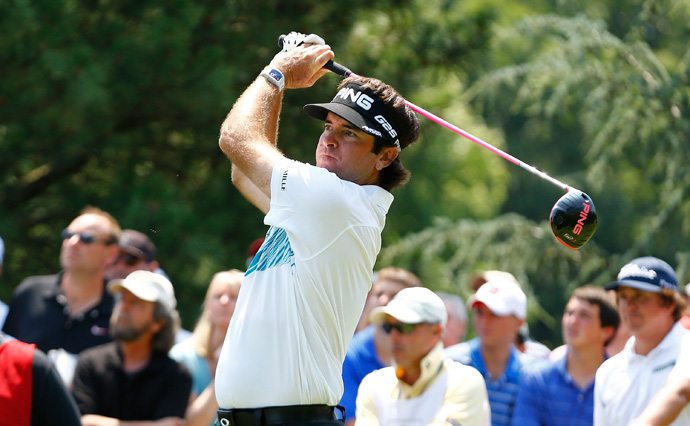 Bubba Watson shot a three-under 67 to grab a two-shot lead heading into the final round.
