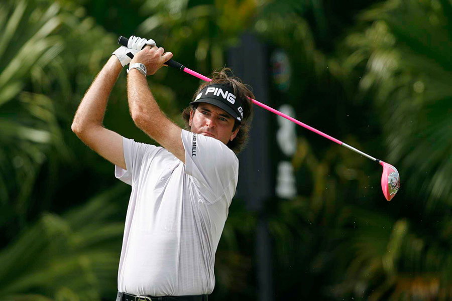 Bubba Watson made an eagle, nine birdies and a bogey for a 10-under 62. He has a one-shot lead heading into the weekend.