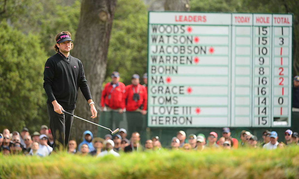 Watson, who has only played in two tournaments since the Masters, showed some rust on Thursday.