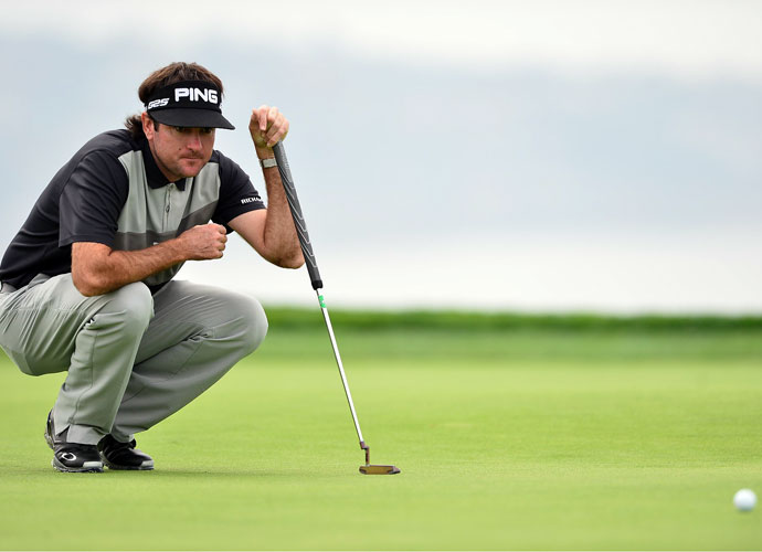 Bubba Watson shot 71 on the South Course in the second round and was tied for 50th (-1).