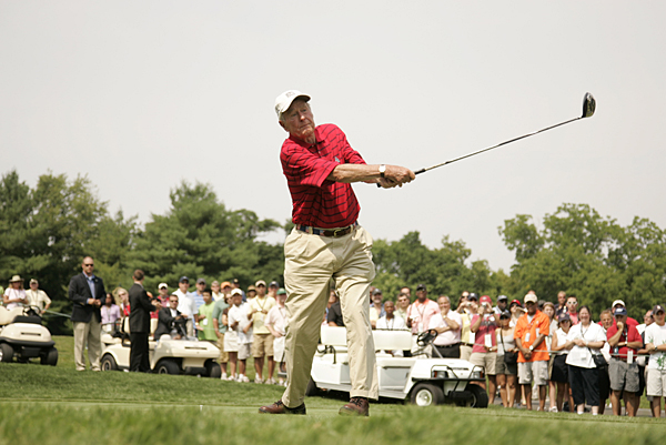 George H.W. Bush has a deep family history with golf. Bush's grandfather, George Herbert Walker, was USGA president and inspired the Walker Cup. Bush has served as an honorary chairman of the First Tee and is a member of the World Golf Hall of Fame.
