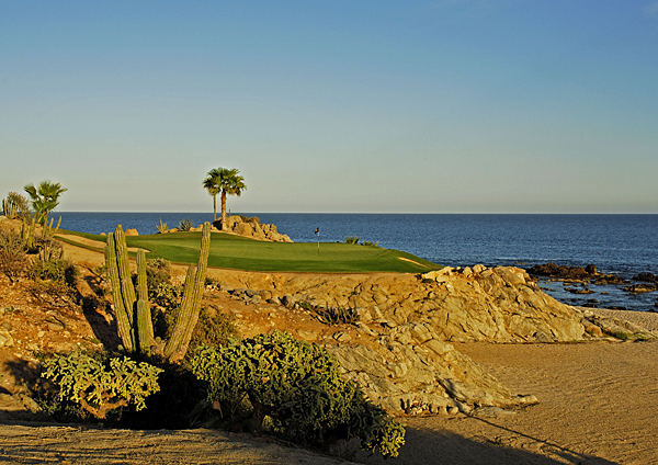 Cabo del Sol (Ocean)                       Los Cabos, Mexico                       $355                       cabodelsol.com                                              Mountain backdrops and cactus-framed fairways set the stage for a dramatic finish, with the final three holes touching the Sea of Cortez.