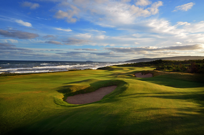 "Cabot Links, No. 82 World                   Developers Ben Cowan-Dewar and Mike Keiser — the latter of Bandon Dunes fame — handed over a dramatic, rolling plot of coastal Nova Scotia terrain to architect Rod Whitman. The result is Canada's first authentic links. Firm, rumpled, fescue fairways, coastal breezes and endless views of the Gulf of St. Lawrence make it abundantly clear why Nova Scotia is the Latin name for ""New Scotland."""