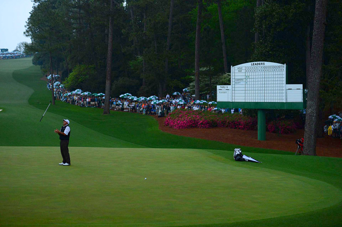 Cabrera barely missed his birdie putt on the second playoff hole.