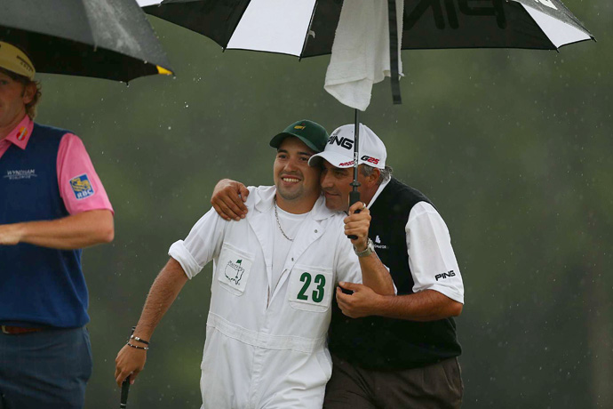 But Cabrera -- who had his son, Angel Cabrera Jr., on the bag -- birdied two of the last three holes to tie Scott.