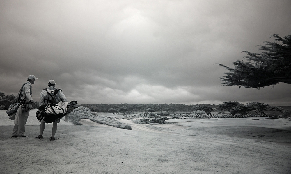 Sports Illustrated photographer Robert Beck used a Nikon D700 fitted with a sensor that reads infrared light to capture these unique images from the 2012 Pebble Beach Pro-Am.