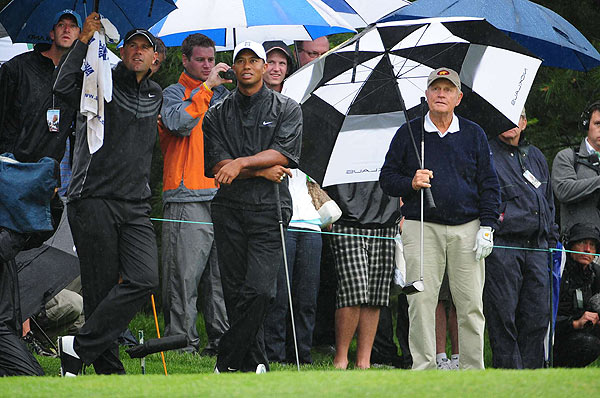 Stewart Cink, left, and Kenny Perry also played with Nicklaus and Tiger.