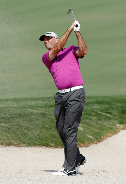 Stewart Cink is also tied for the lead after a four-under 68.