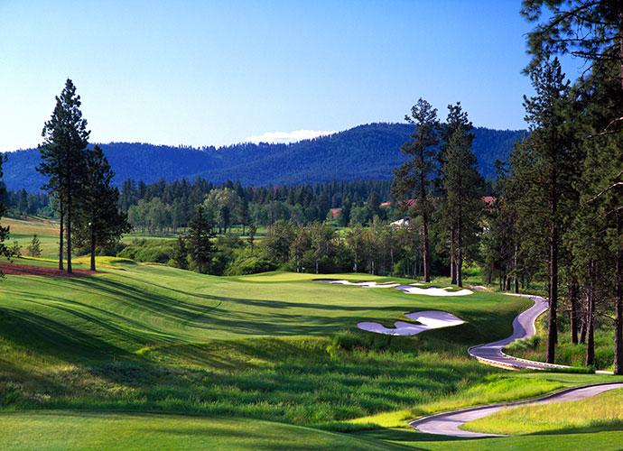 91. Circling Raven Golf Club Worley, Idaho; Gene Bates (2003) -- $65-$95, cdacasino.com
