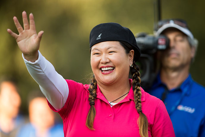 """She's full of crap. There is no question her story is far more incredible and far more important to the game golf than some old 30‑year‑old lady winning for the first time in a decade. That's so sweet, but she's just saying that because she's my friend. Her U.S. Open win, it just transcended the entire sport.""                       --Christina Kim on Michelle Wie saying that Kim's win in Mexico was the best story of the year."