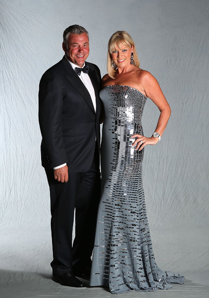 Darren Clarke and his wife, Alison.