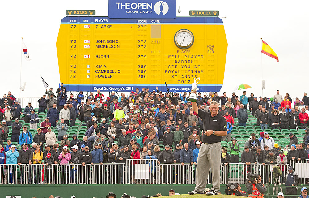 Clarke joined fellow Northern Irishmen Graeme McDowell and McIlroy as a major champion.