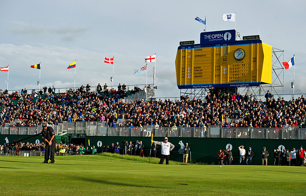 After a rainy start, the skies cleared as Darren Clarke finished off a miraculous round to win the British Open.