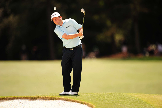 Tim Clark moved up the leaderboard with a five-under 67.