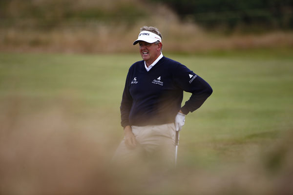 Colin Montgomerie has made more news off the course than on this week with his Sandy Lyle feud. He finished at five over par to end his British Open chances.