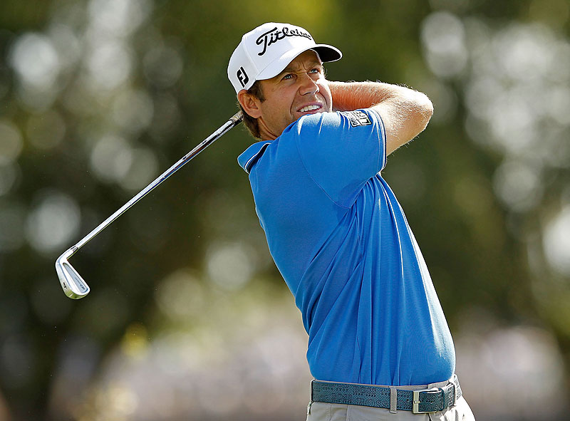 Erik Compton was in contention until he went three over on the back nine to finish with a 71.