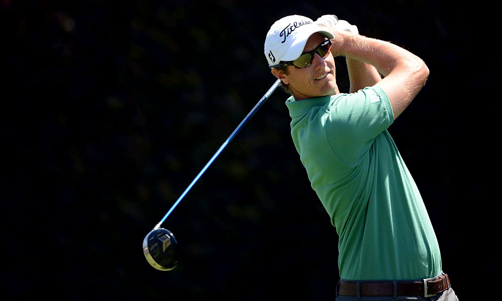 Belgian Nicolas Colsaerts parred his first 10 holes before making a birdie on the eleventh. He made two bogeys on the way in, however, and is two over going into Sunday.