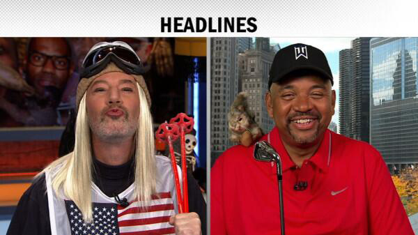 """Can Lindsey Vonn sue you for this?""                     ESPN's Michael Wilbon to his Pardon the Interruption co-host Tony Kornheiser, who dressed as Lindsey Vonn for Halloween."