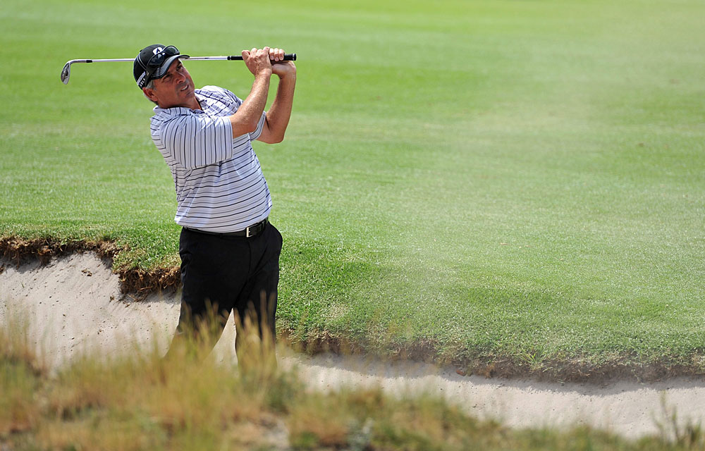 Fred Couples made an eagle on 17 on his way to a one-under 71.