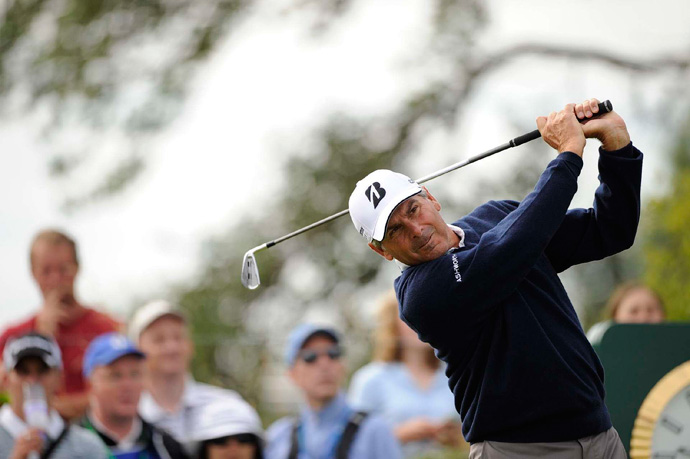 Fred Couples made an eagle, three birdies, five bogeys and two double bogeys for a 75.