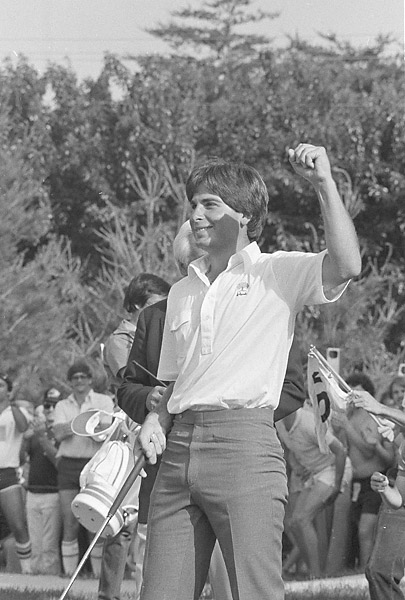 Fred Couples turned pro in 1982 and got the first of his 15 PGA Tour victories at the 1983 Kemper Open, above.