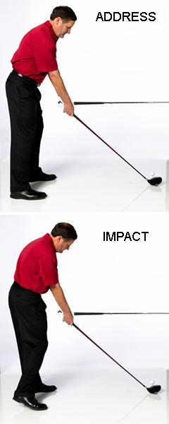 TRY THIS!                        Once you can establish a 45-degree shaft angle at address, the secret is to re-create it at impact. Get into your setup with the shaft at 45 degrees, then have a friend point the grip of one of your clubs at your hands. As you swing into impact, try to match your hands with the grip. This makes your swing extremely consistent.