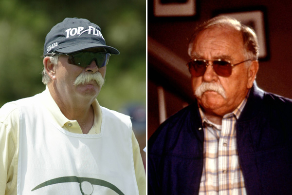 "Mike ""Fluff"" Cowan and actor Wilford Brimley"