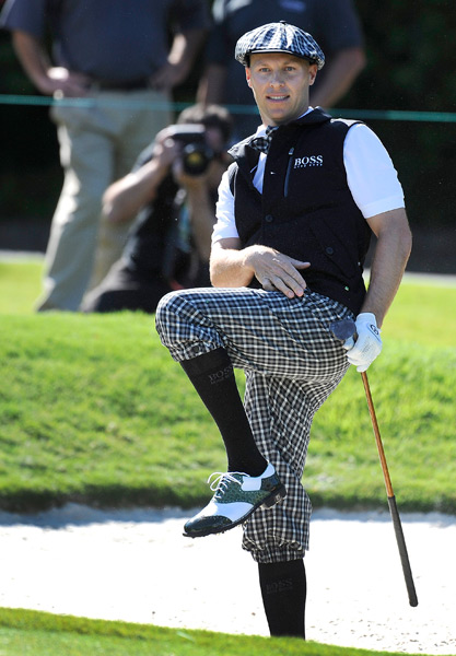 Ben Crane also had a custom outfit made by his sponsor, Hugo Boss.