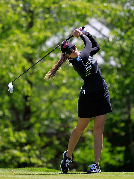 Paula Creamer lost to fellow American Jennifer Johnson 2 and 1.