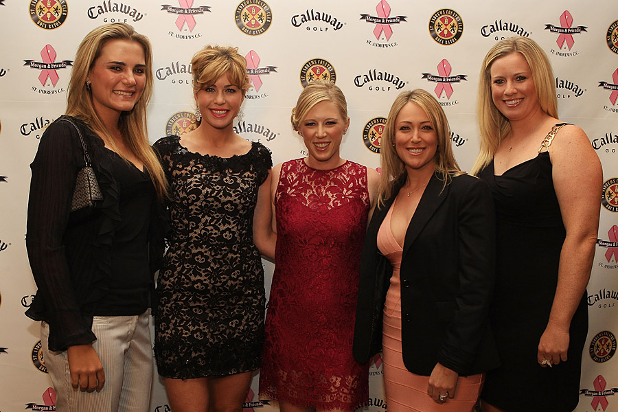 Pressel also hosts a charity tournament, the Morgan and Friends Fight Cancer Tournament, every year (pictured).
