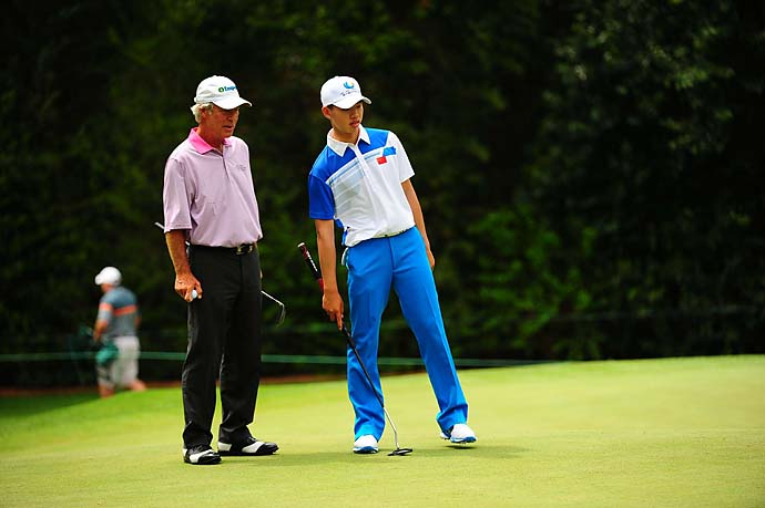 """He played about four of the most beautiful delicate pitches you've ever seen.""                     --Ben Crenshaw on playing with 14-year-old Tianlang Guan."