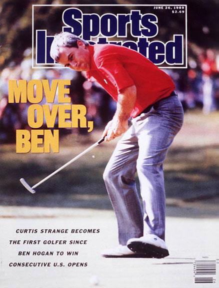 Curtis Strange wins the 1989 U.S. Open at Oak HillJune 26, 1989