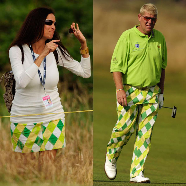 "John Daly and his girlfriend showed up to Turnberry in coordinated outfits.                                                                                     function fbs_click() {u=""http://www.golf.com/golf/gallery/article/0,28242,1910882,00.html"";t=document.title;window.open('http://www.facebook.com/sharer.php?u='+encodeURIComponent(u)+'&t='+encodeURIComponent(t),'sharer','toolbar=0,status=0,width=626,height=436');return false;} html .fb_share_link { padding:2px 0 0 20px; height:16px; background:url(http://b.static.ak.fbcdn.net/images/share/facebook_share_icon.gif?8:26981) no-repeat top left; }Share on Facebook                                                                                                                                                                        addthis_pub             = 'golf';                                           addthis_logo            = 'http://s9.addthis.com/custom/golf/golf_logo.jpg';                                          var addthis_offset_top = -155;                                          addthis_logo_color      = '555555';                                          addthis_brand           = 'Golf.com';                                          addthis_options         = 'email, facebook, twitter, digg, delicious, myspace, google, reddit, live, more'                                                                                                                                Share"