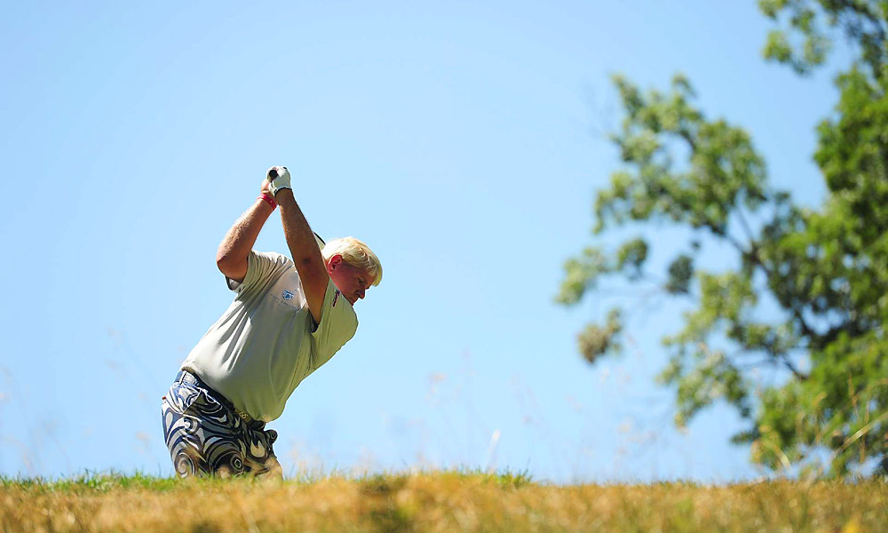 John Daly had three birdies and two bogeys on the front nine and finished at even par.