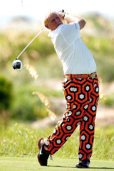 John Daly put together a very nice four-under 68 to put himself near the top of the leaderboard.