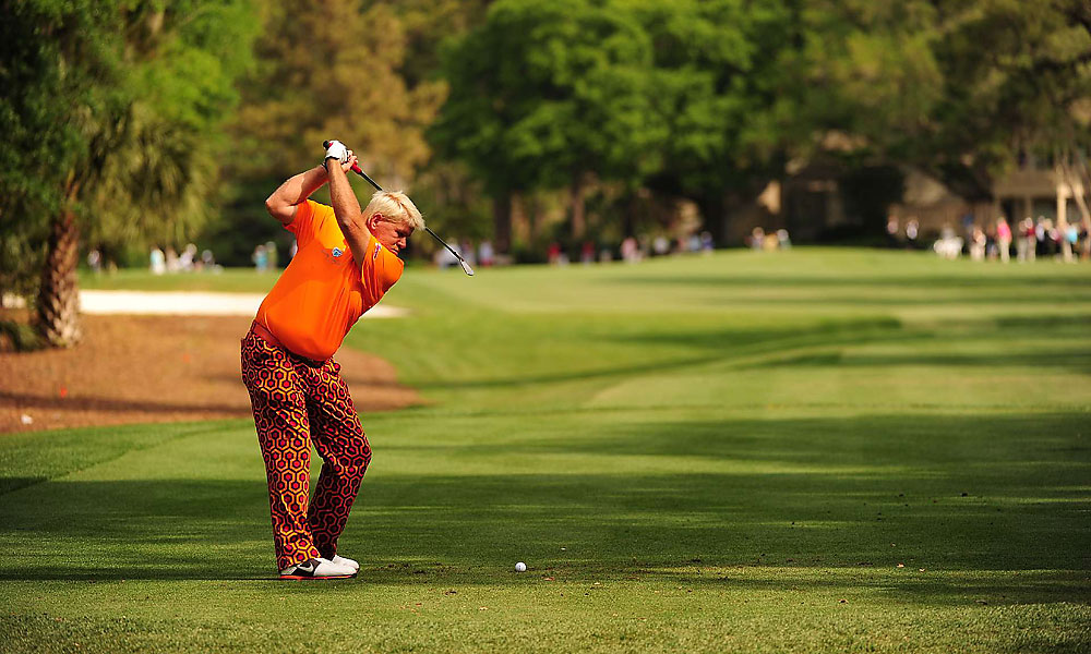 John Daly shot a three-over 74, but he was still able to make it to the weekend.