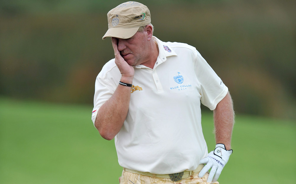 "John Daly, Australian Open: Daly hit seven balls in the water on the par-5 11th hole at the Australian Open and walked off the course. Already upset after hitting the wrong ball out of a bunker on the 10th, Daly fired shot after shot into a pond before quitting. He later tweeted: ""when u run out of balls u run out of balls."""