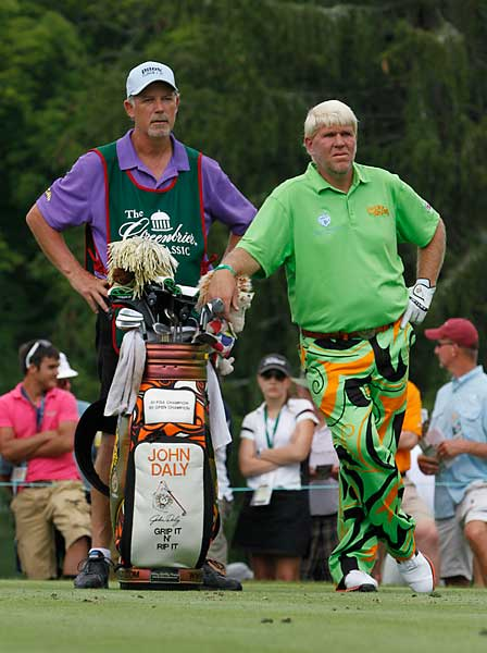 John Daly made only one bogey on his way to a two-under 68.