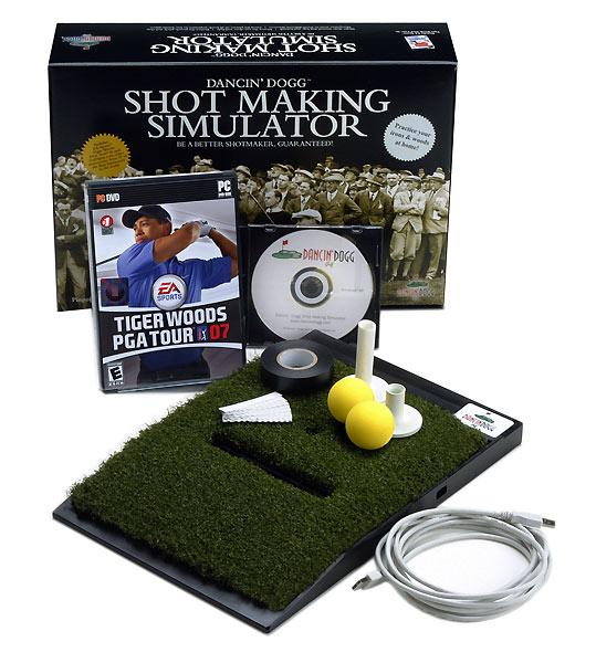 Dancin' Dogg Shot Making Simulator                     $399.99, dancindogg.com                     Work on your swing and play Pebble Beach right from your home. Dancin' Dogg Shot Making Simulator combines a full simulator and swing analysis designed specifically for your home or office. It also works with Tiger Woods PGA Tour from EA Sports.Complete Holiday Gift Guide