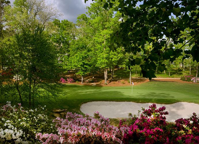 3. Dancing Rabbit (Azaleas), Choctaw, Miss.; dancingrabbitgolf.com; $60-$130                       This undulating 1997 Tom Fazio/Jerry Pate design darts through thick forest on a canvas ribboned with creeks, wetlands and in springtime, countless azaleas. If your luck runs out at the long, watery, par-4 18th, you can find it again down the street at the Pearl River Resort.