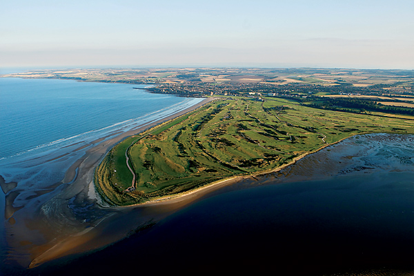 A view of the course and the surrounding town of St. Andrews, Scotland, the birthplace of golf and home of the 139th Open Championship.